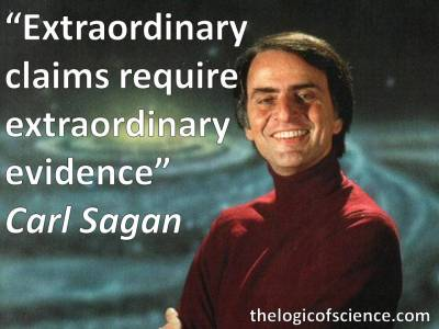 Carl Sagan quote extraordinary evidence claims