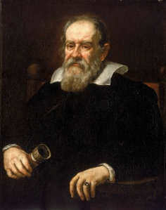 A portrate of Galileo Galilei