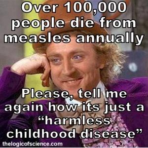 measles isn't harmless meme anual deaths