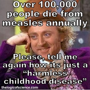 measles isn't harmless meme anual deaths