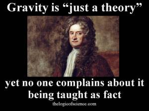 evolution just a theory gravity creationism