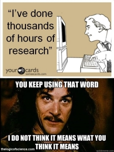 meme research you keep using that word