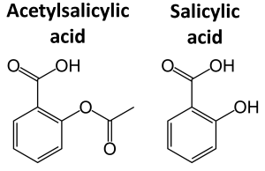 chemical structure acetylsalicylic acid salicylic acid
