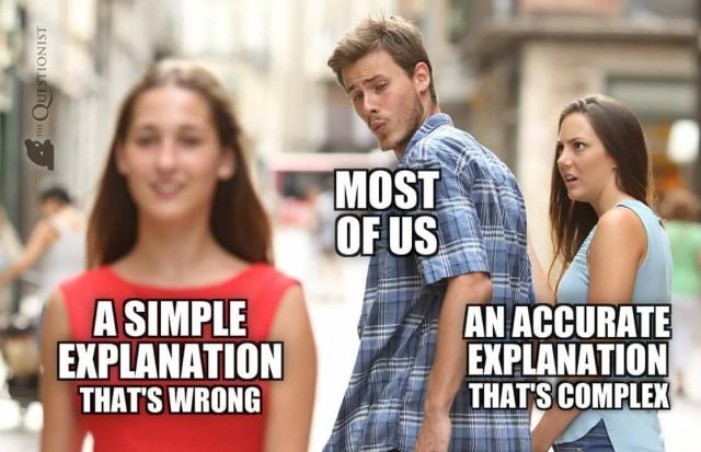 occam's razor meme peope complex answers simple